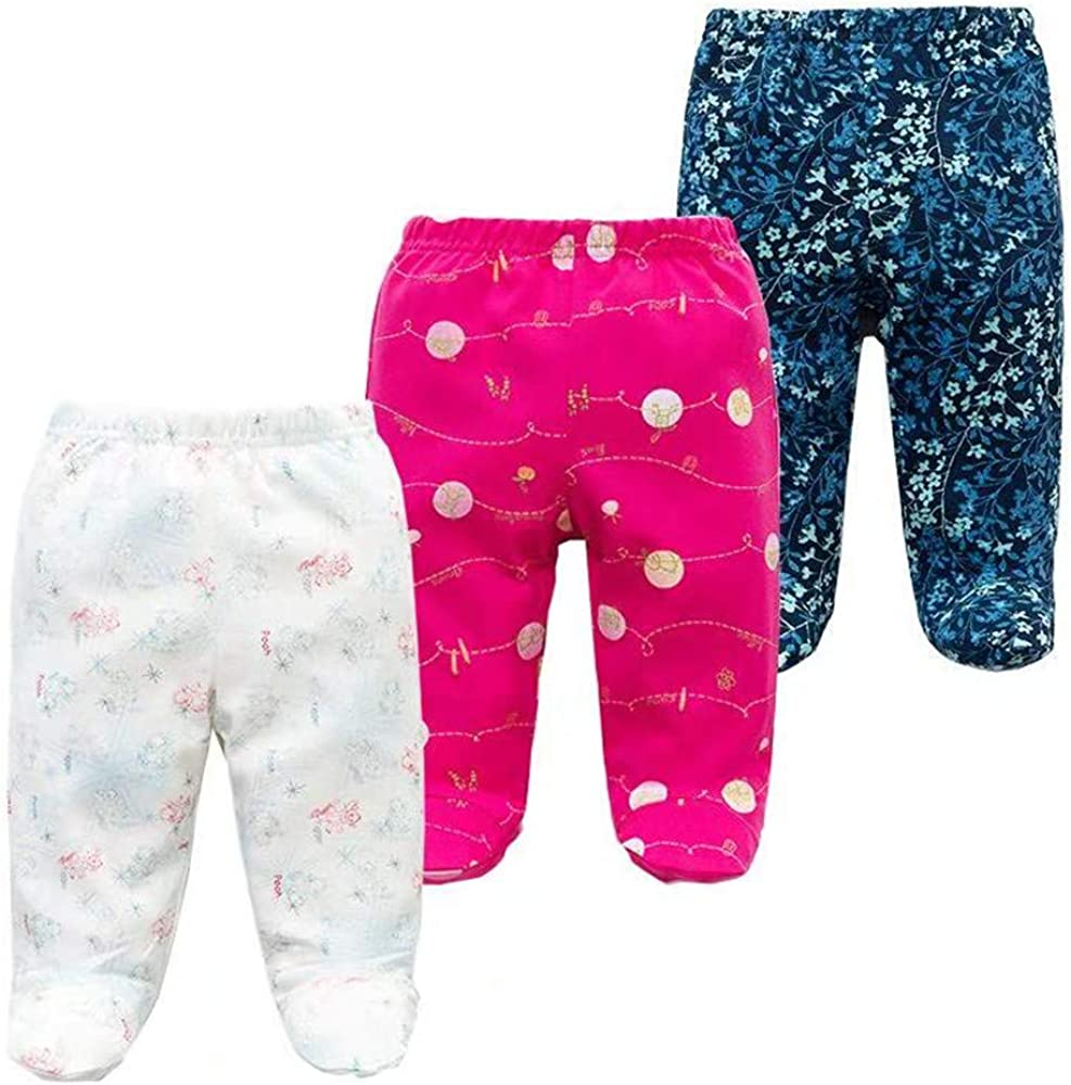 Spring Autumn Casual Bottom PP Pants Newborn Footed Baby Pants Baby Girls Boys