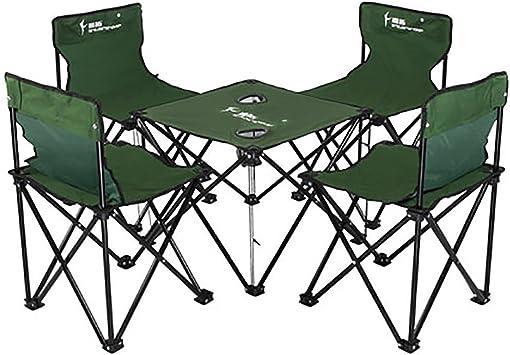 Portátil Plegable Sillas De Mesa De Camping Kit, Mesita para ...