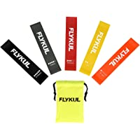 5-Count Flykul Resistance Loop Exercise Bands for Physical Therapy, Pilates, Yoga, Strength Training Resistance Bands