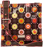 Hadaki Printed Scoop Sling Cross-Body,Doodle Bugs Pink,one size, Bags Central