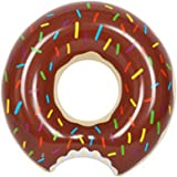 HOMEJU Gigantic Donut Pool Float,Funny Inflatable Vinyl Summer Pool or Beach Party Toy for Adults Women Girls or Children (chocolate )