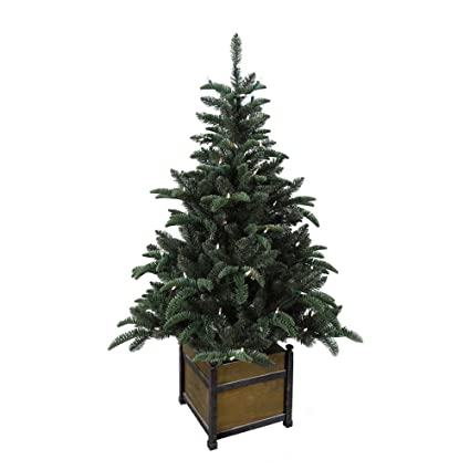 Artificial Christmas Trees 4 ft. Pre-Lit Noble Artificial Christmas Porch  Tree with Warm - Amazon.com : Artificial Christmas Trees 4 Ft. Pre-Lit Noble