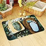 HOMEE The door non-slip carpet living room water absorption foot pad bedroom bathroom kitchen bathroom rectangle home mat,60Cm×90Cm