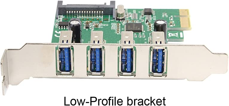 Cy Super Speed Low Profile Half Height Bracket 4 Ports Usb 3 0 Pci Express Interface Card For Pc Computers Accessories