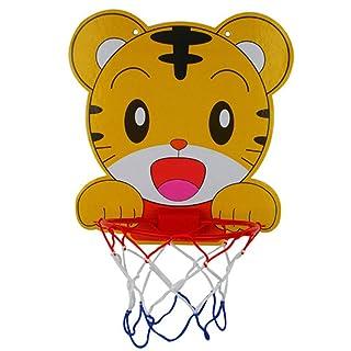Canestro di Pallacanestro di plastica Fumetto Bello Portatile per Bambini Sport Indoor Appeso canestro da Basket con Palla Giocattoli per Bambini Basket Netto Giocattolo 1 pz (Tigre)