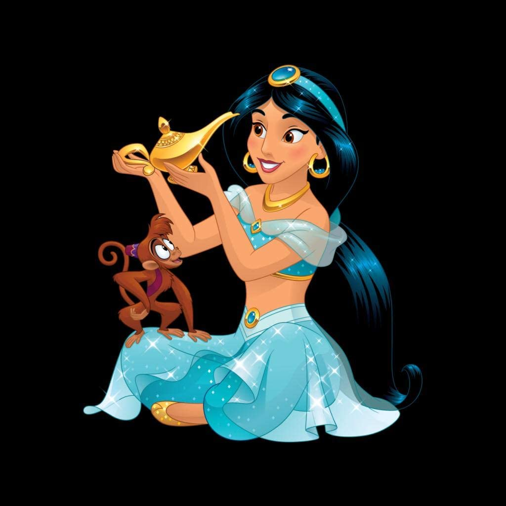 Disney Aladdin Princess Jasmine Holding Magical Lamp Women's Sweatshirt Black