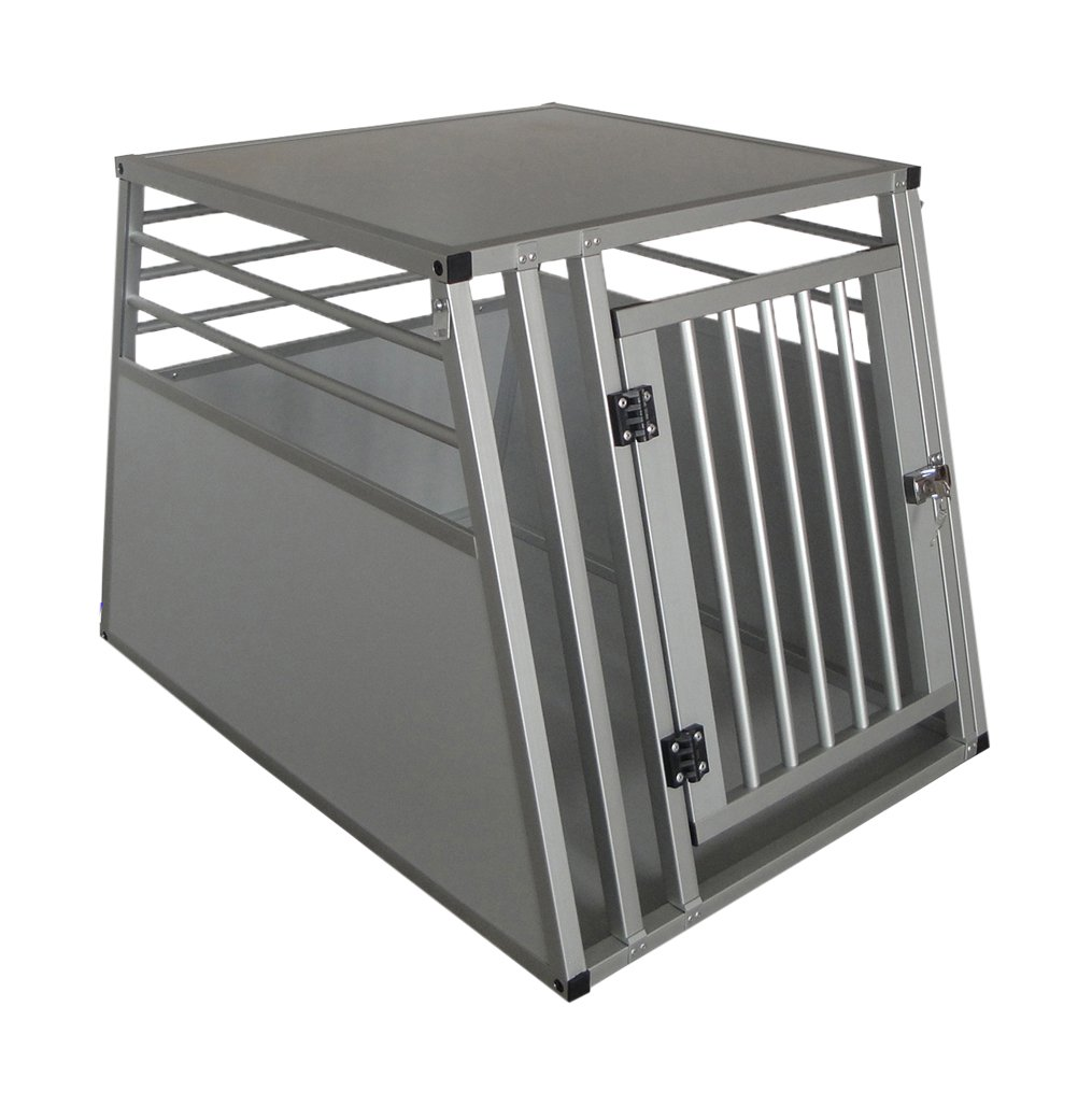 Handlers Choice Pro Series Luxury Edition Secure Aluminum Pet Travel Car Crate Medium Large (26  H x 26  L x 32  W)