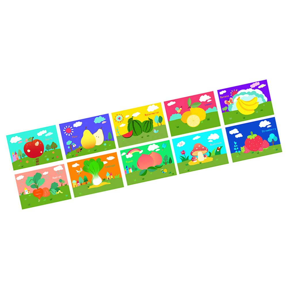 Amazon.com: Unicoco Magic Scratch Art Paper 10sheets Animal ...