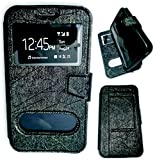 BKDT Marketing Leather look Flip Cover for Samsung Galaxy J1 Mini Prime With Stand - Black