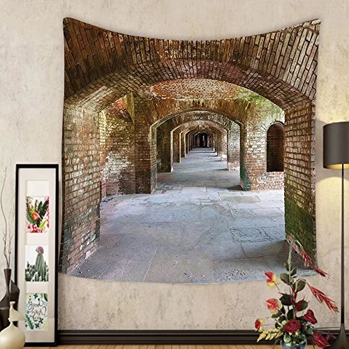 Gzhihine Custom tapestry Apartment Decor Tapestry Brick Arches At Dry Tortugas Old Fort Historic Heritage Tourist Attraction Vintage Deco Bedroom Living Room Dorm Decor - Park At Deer Arches