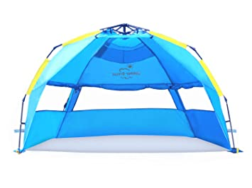 Summer Breeze Quick u0026 Easy Pop Up Beach Tent - Superior Family Privacy Fun and  sc 1 st  Amazon.com : beach tents amazon - memphite.com