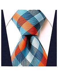 Gingham Plaid Ties for Men - Woven Necktie - Mens Ties Neck Tie by Scott Allan