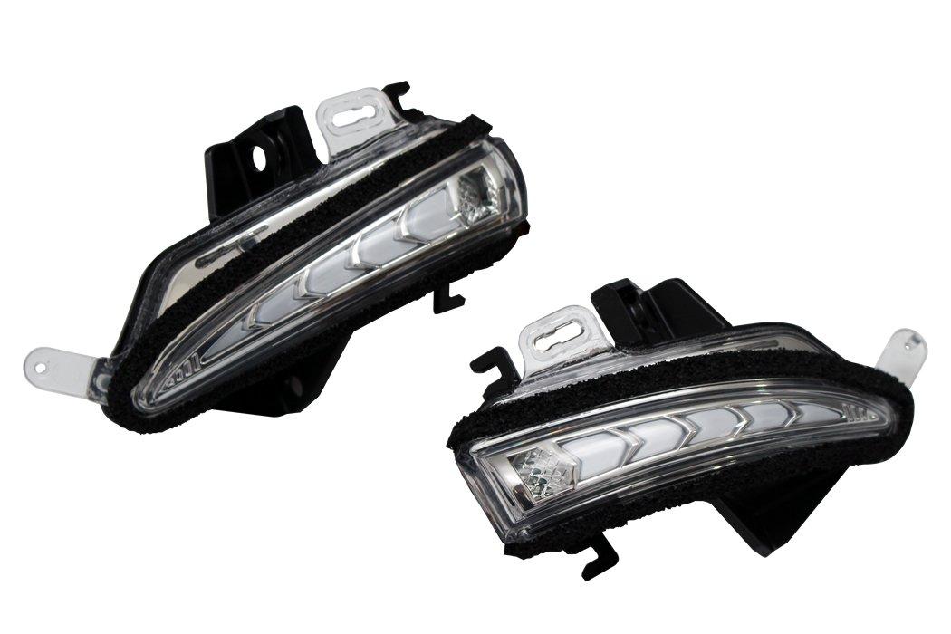 流れるウインカー LEXUS GS/CT/IS/LS/RC 純正交換式 LED ドアミラー ウインカー レンズ AVEST VerticalArrow ホワイトLED プッシュスイッチのみ B0756B8MD4 ホワイトLED ホワイトLED