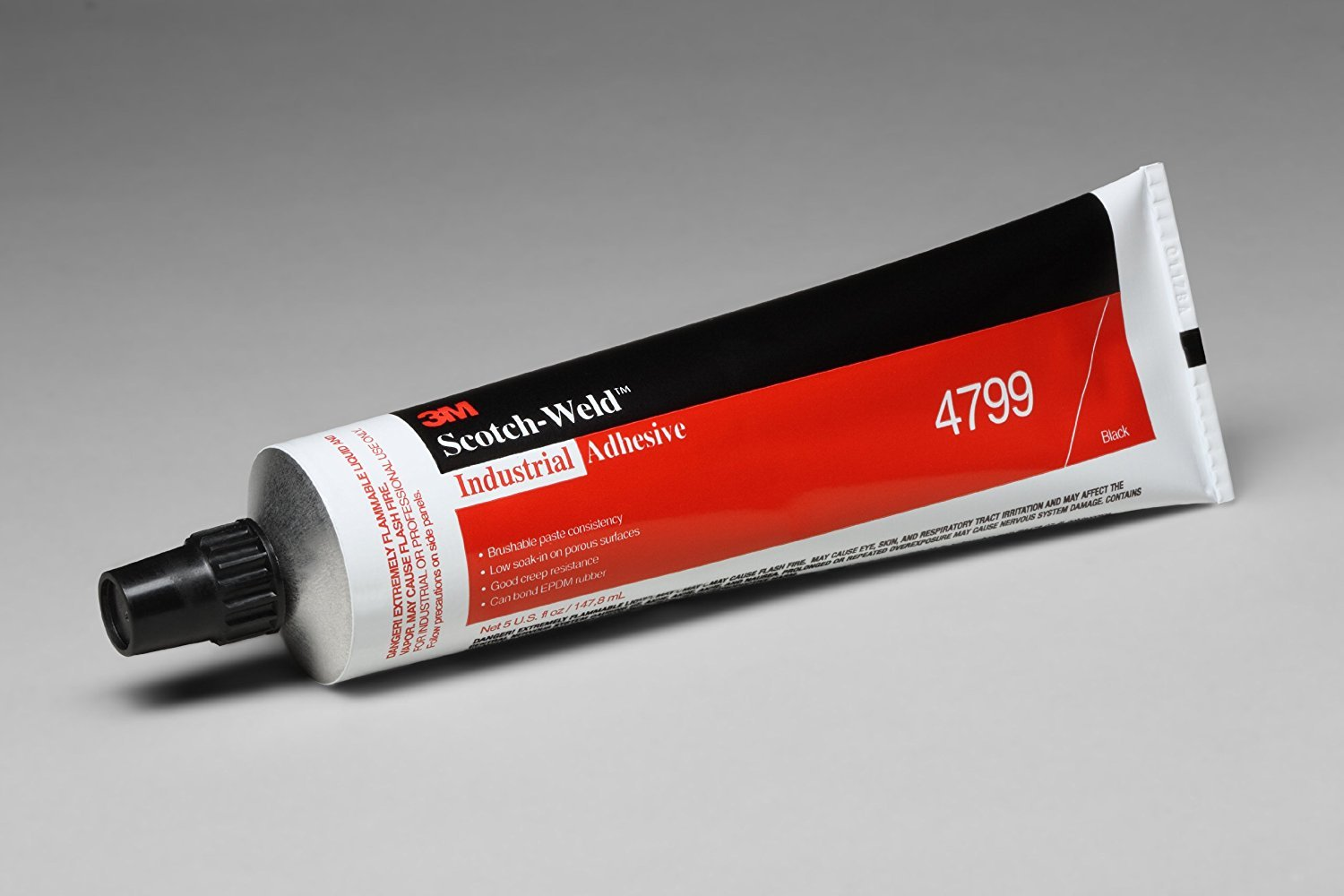 3M 4799 Black Industrial Adhesive, 5 Ounce