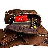 Vintage Drop Leg Bag Leather Waist Pack for Men