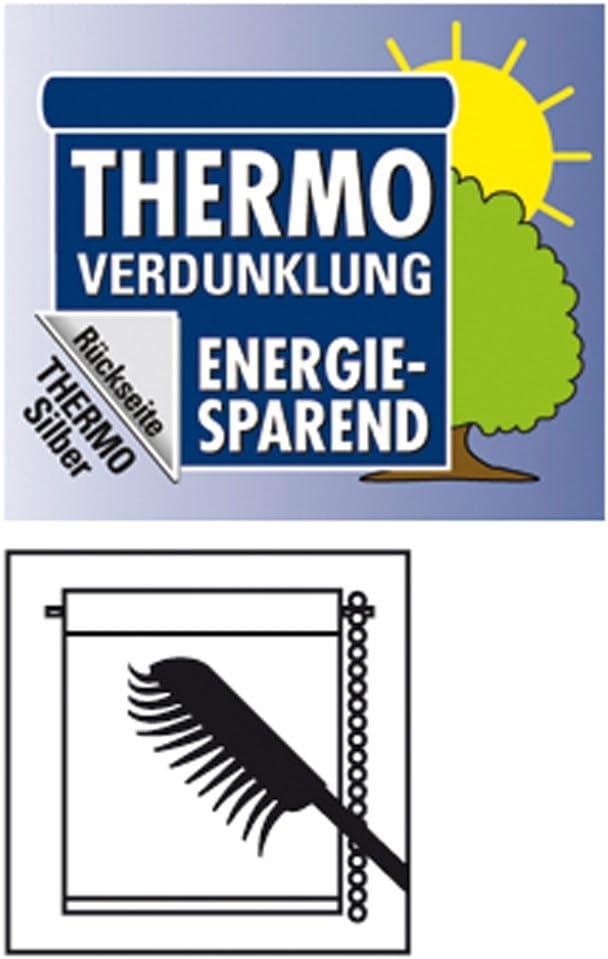 GARDINIA Store Enrouleur Occultant Thermique /à Coller ou Clipser Opaque 60 x 150 cm Orange Kit de Montage Inclus LxH Grande R/éflexion de la Lumi/ère /Économie d/Énergie Store Thermique EASYFIX