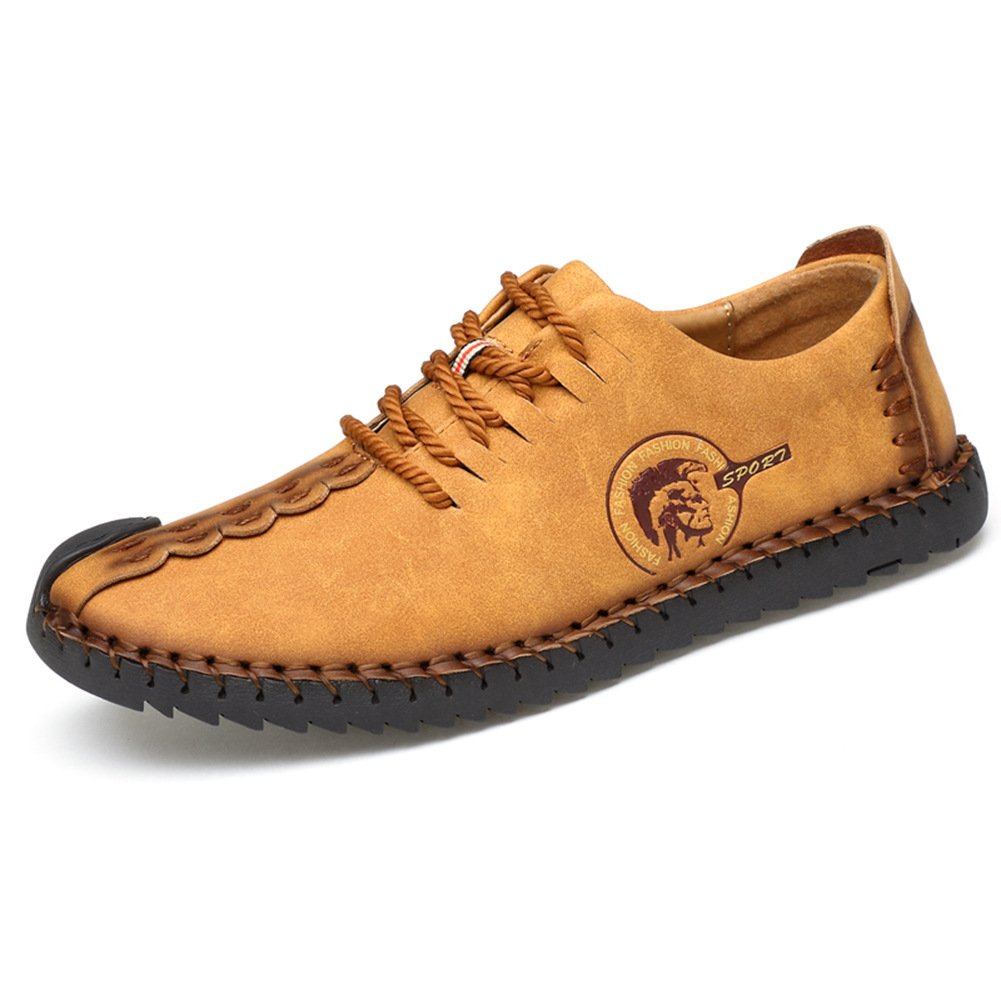 Yaer Mocasines Casuales de Los Hombres, Zapatillas de Cuero Zapatos Transpirables Zapatos de Conducción: Amazon.es: Zapatos y complementos
