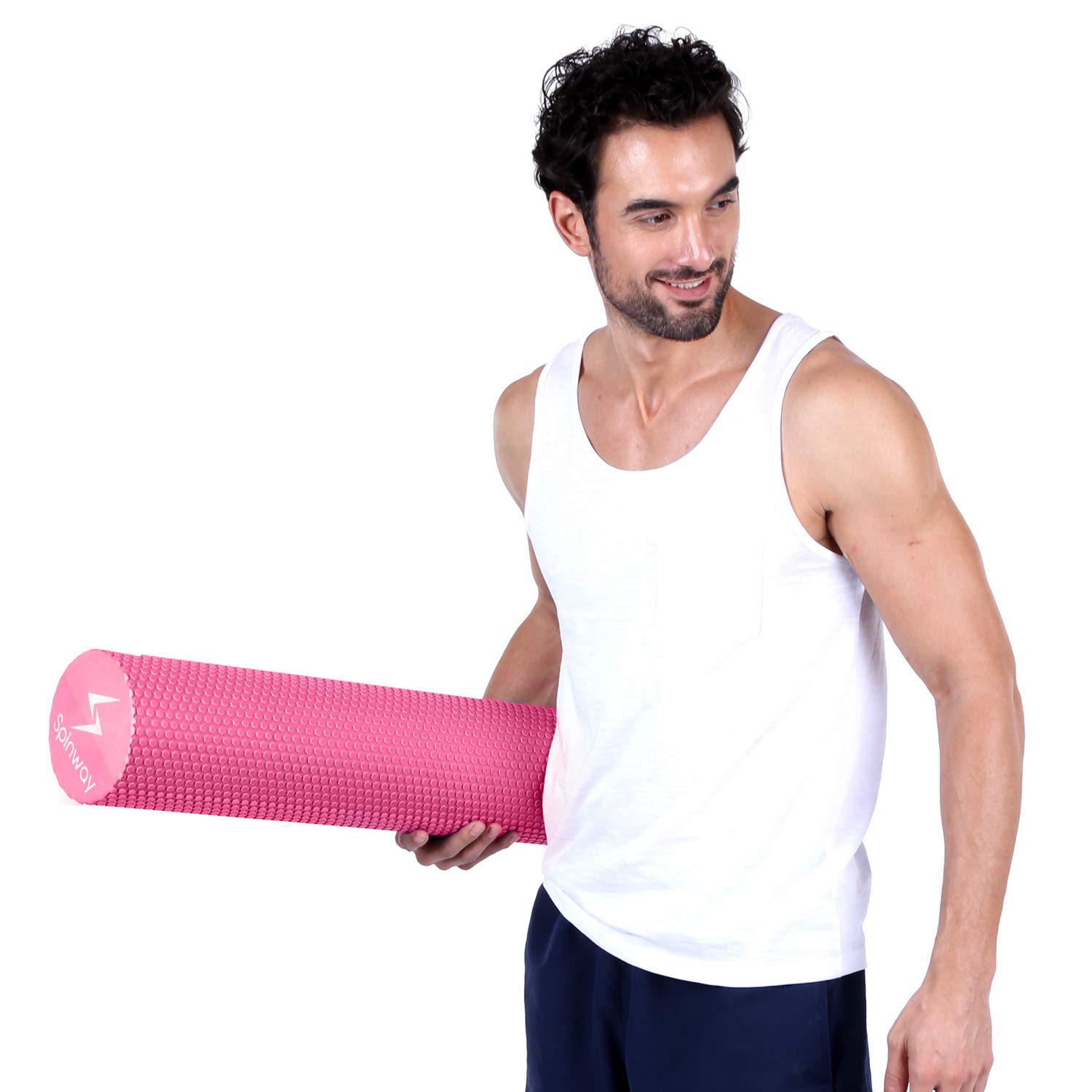 spinway Yoga Foam Roller Speckled Foam Rollers for Muscles Extra Firm High Density for Physical Therapy Exercise Deep Tissue Muscle Massage (Pink) by spinway (Image #6)