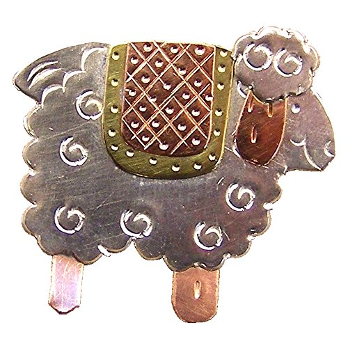 Country Quilt Sheep Needle Nanny Magnetic Needle Minder Holder, Brooch Needle Holder Magnet