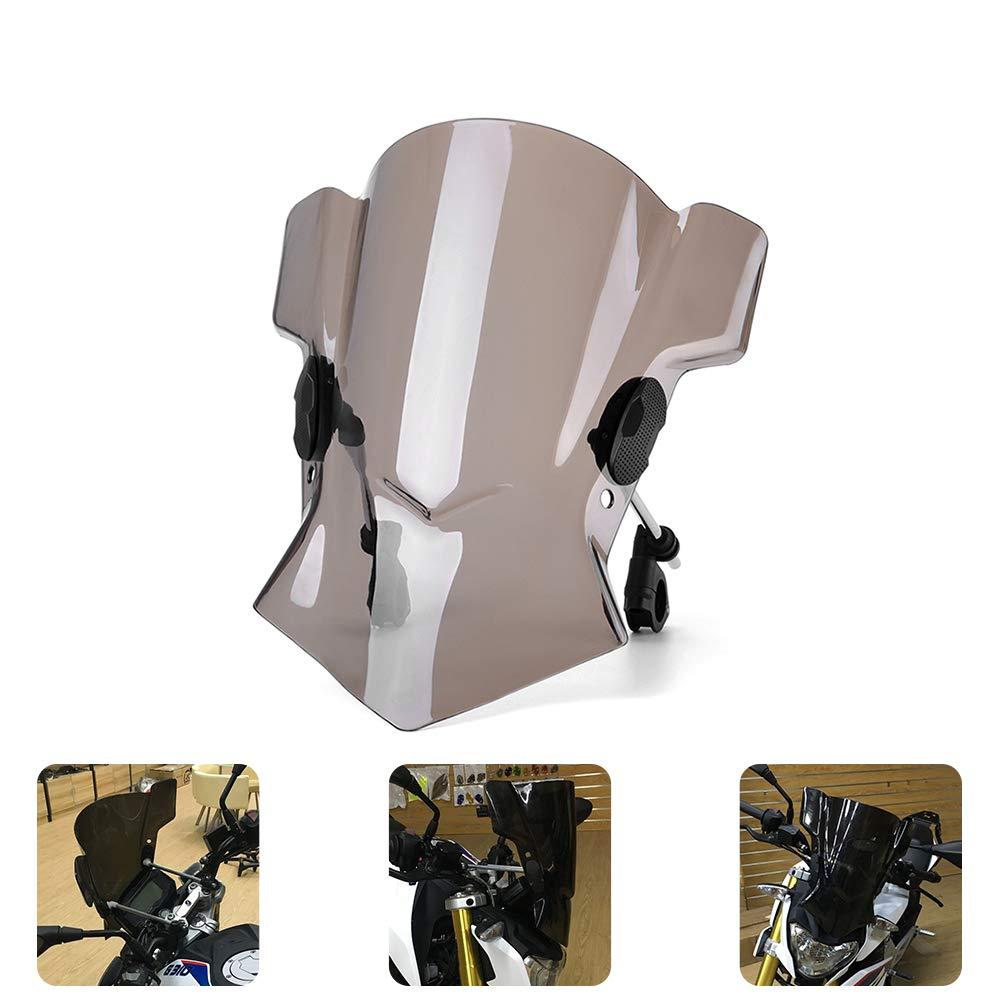 Black Motorcycle Street Bike Windshield Windscreen For BMWS1000R 2014-2015 For Kawasaki ER-6N 2009-2010 Z1000 2010-2015 Z750 2007-2011