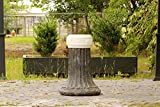 Reclaimed Antique Cast Iron Column Pedestal Farm Sink 1880's New Orleans Architectural Column Pedestal Sink Original Patina