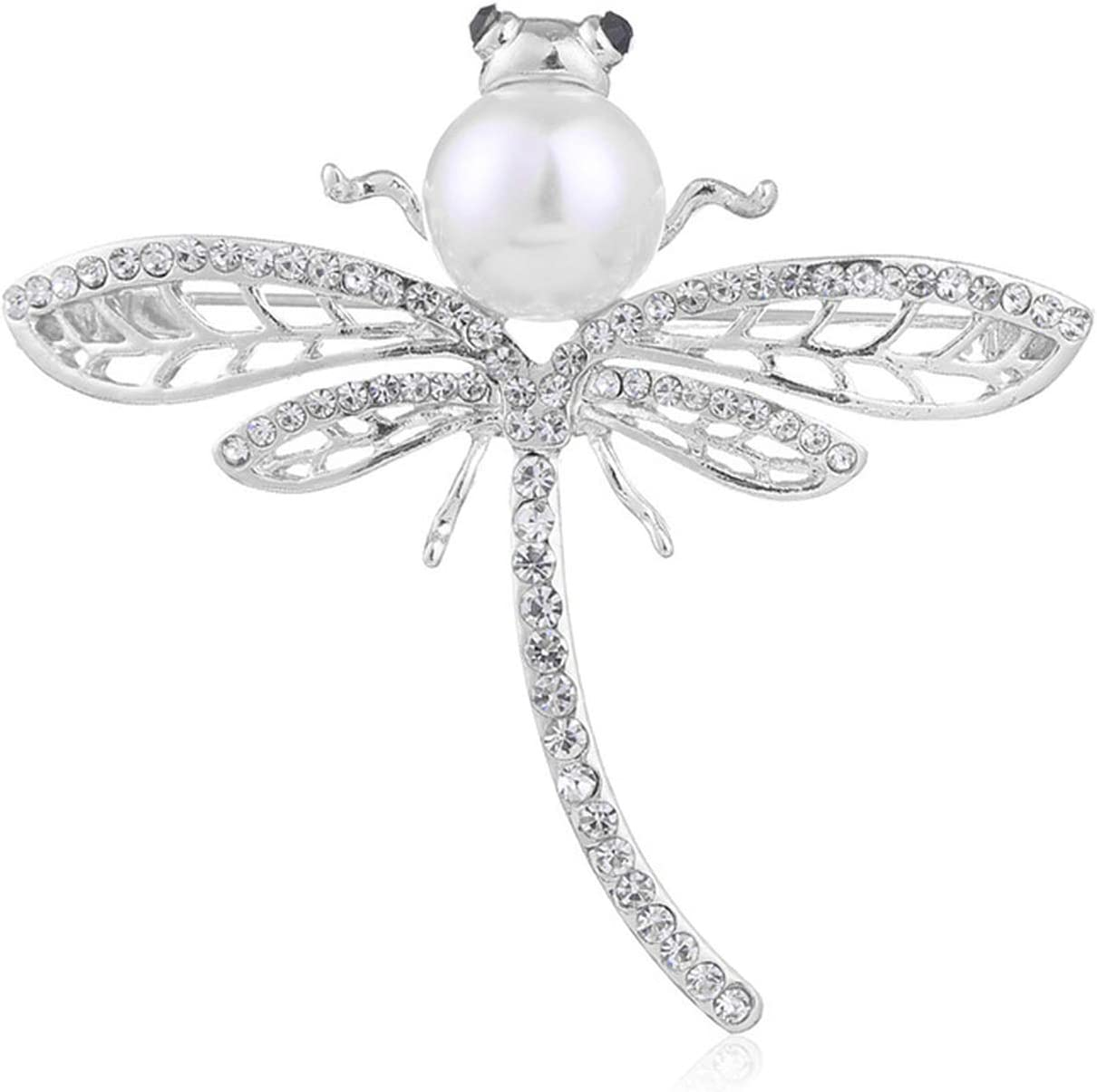 Kristing New Simple Brooch Upscale Vintage Brooch Dragonfly Coat Accessories Animal Brooch