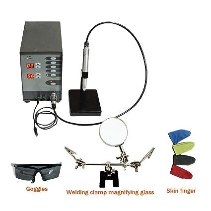 110V Jewelry Dental Spot Welding Machine Pulse Argon Arc Automatic NC Au Co-Cr Titan Hybird Ortho Spot Welder 100W - - Amazon.com