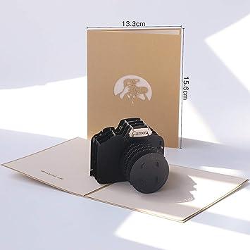 Papel spiritz 3d Pop Up Tarjeta de felicitación, diseño de cámaras ...