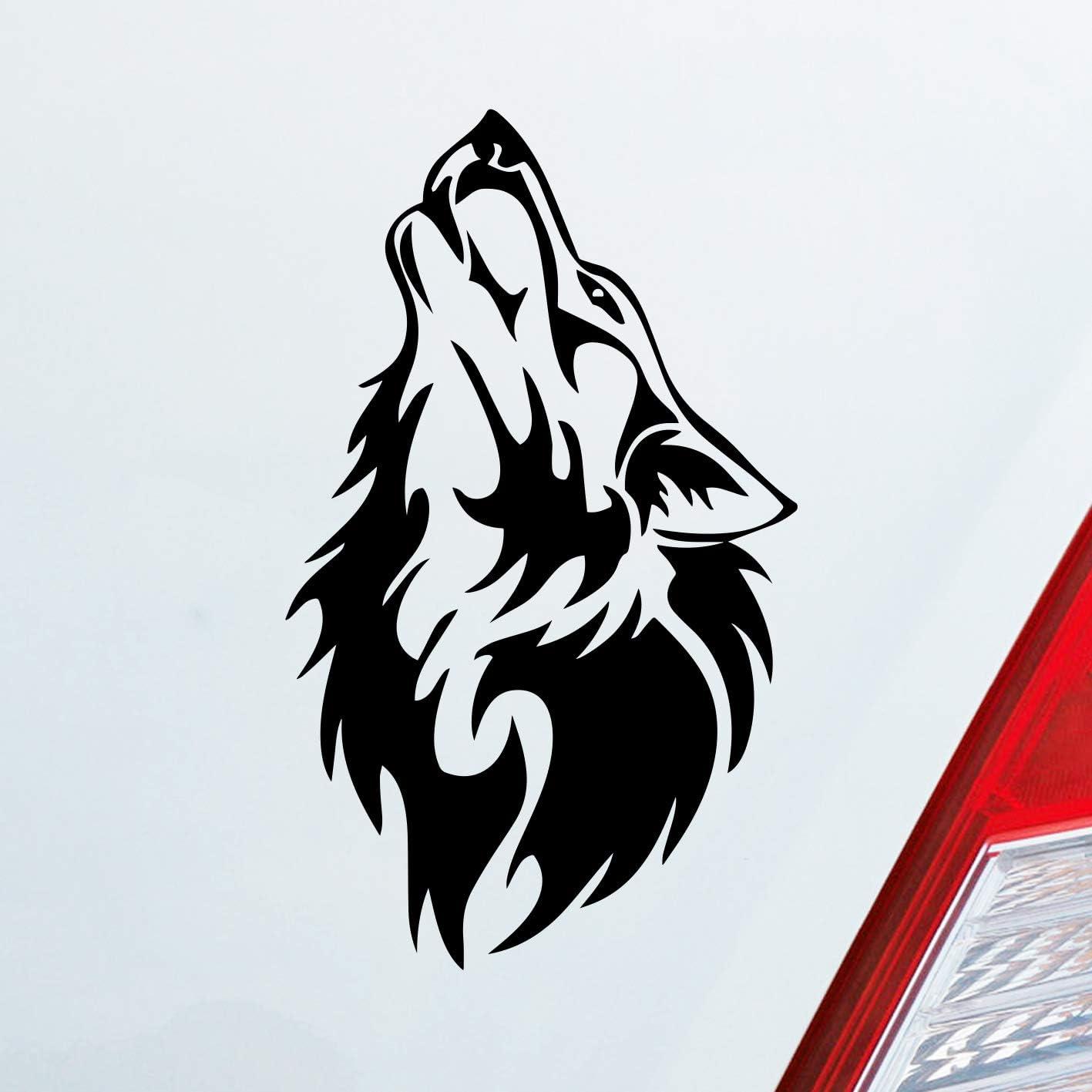Auto Aufkleber In Deiner Wunschfarbe Wolf Wölfe Hund Heulen Wulf Tier Animal Motorrad Dub 15x9 Cm Autoaufkleber Sticker Auto