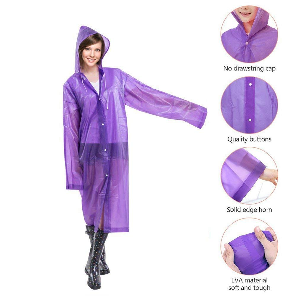 Camping Hiking and Any Outdoor Adventures Poncho Waterproof 5 Pack for Women and Men Water Sports Great for Festivals Adults and Kids