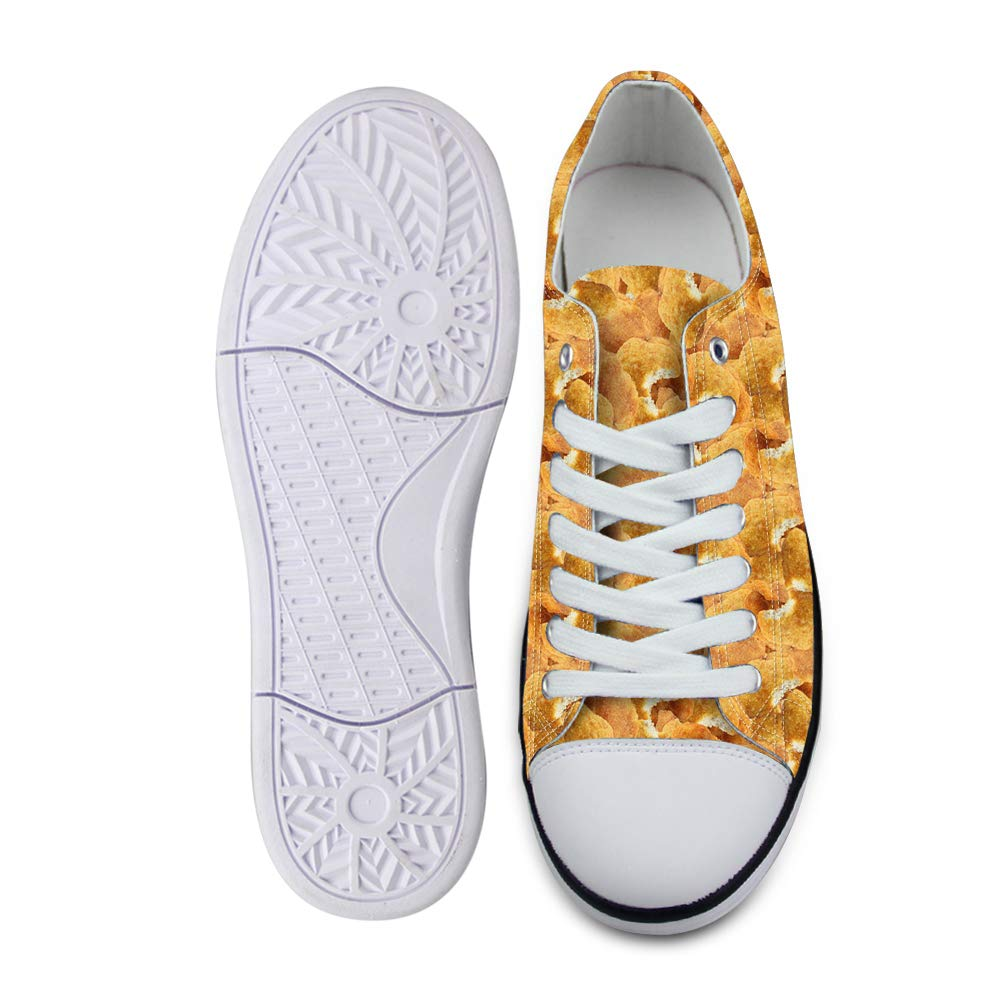 Canvas Low Top Sneaker Casual Skate Shoe Mens Womens Wish of Fried Chicken Nuggets