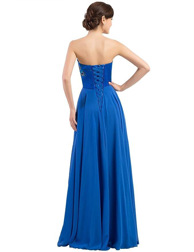 Quissmoda vestido largo boda desde talla 34 a 50: Amazon.es: Ropa y accesorios