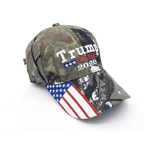 Tianre Gorra de Camuflaje de la Bandera Estadounidense de Donald ...