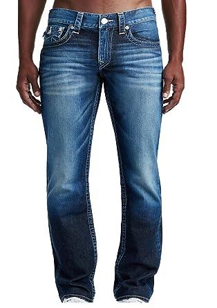 55748772e Amazon.com  True Religion Men s Straight Flap Natural Denim Jeans  Clothing