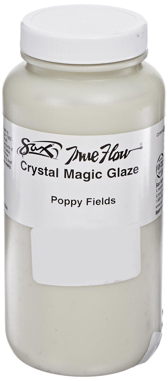 Sax True Flow Crystal Magic Glaze, Poppy Fields, 1 Pint
