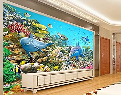 Huytong 3D Papel Pintado Sala De Estar Dormitorio Pegatinas De Pared Mural Pinturas De Fondo De