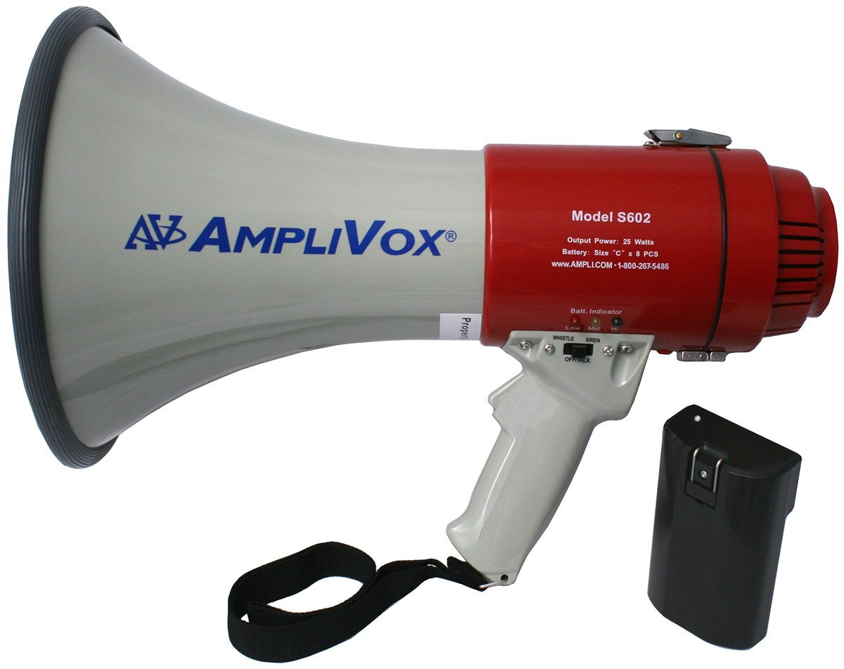 AmpliVox SB602R Mity-Meg 25W Megaphone with Rechargeable Battery Pack by Amplivox