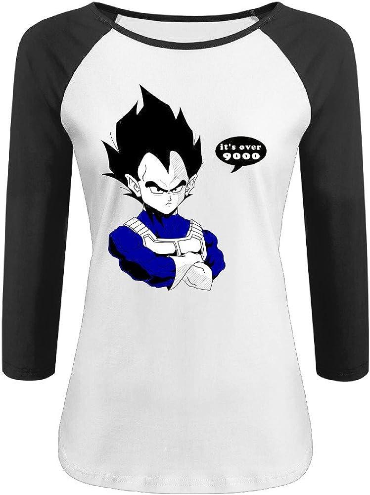 Mujer Vegeta it Japón Anime 3/4 Contraste Raglan Camiseta de manga Negro negro medium: Amazon.es: Ropa y accesorios