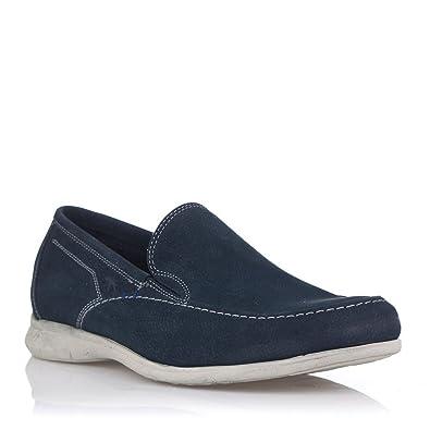 FLUCHOS 9379 Mocasin Nobuck Hombre Azul 41: Amazon.es: Zapatos y complementos