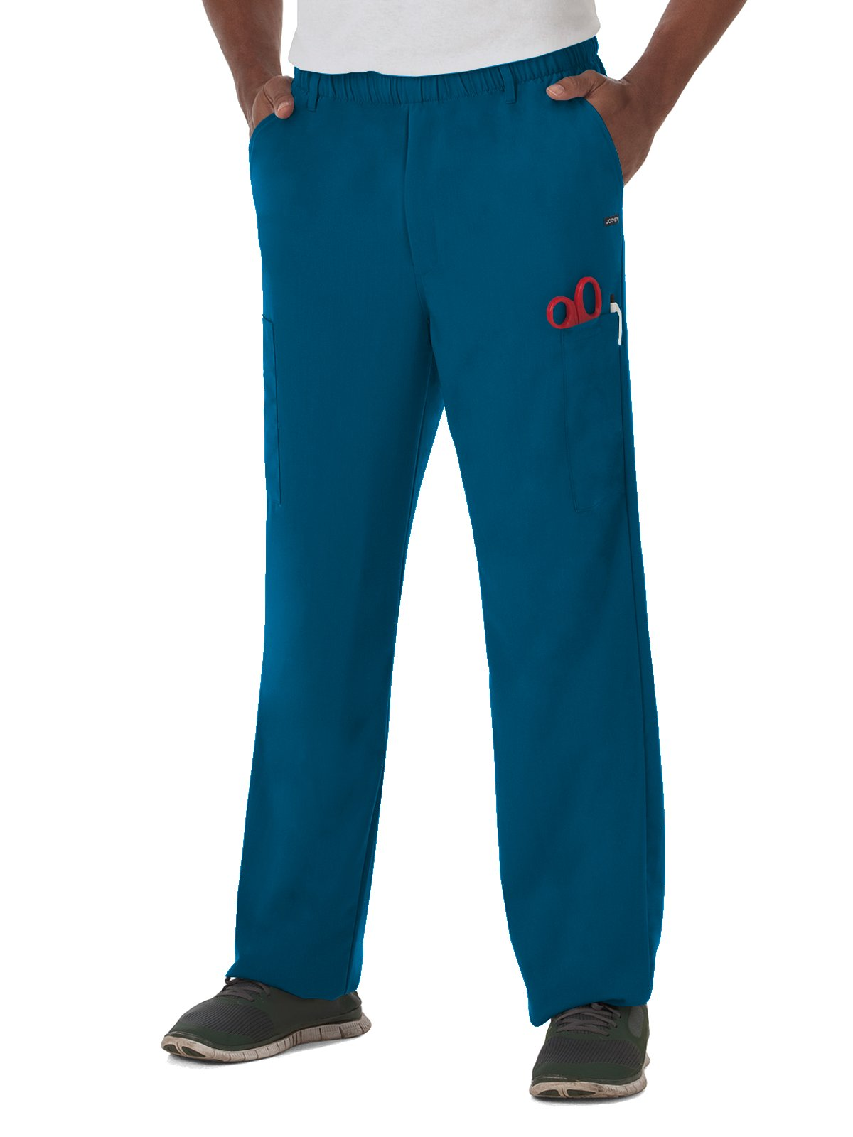 Classic Fit Collection by Jockey Men's 7 Pocket Scrub Pant X-Large Caribbean Blue by Jockey