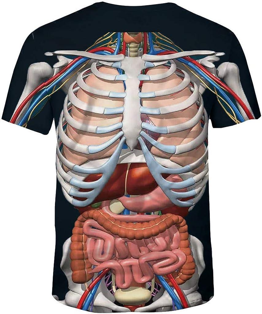 Camiseta Hombre Manga Corta Verano Personalidad Original Impresi/ón Medicina T Shirt Estampadas Informales Blusas B/ásica Casual Cuello Redondo Tops Moda Suave Blusa Transpirable