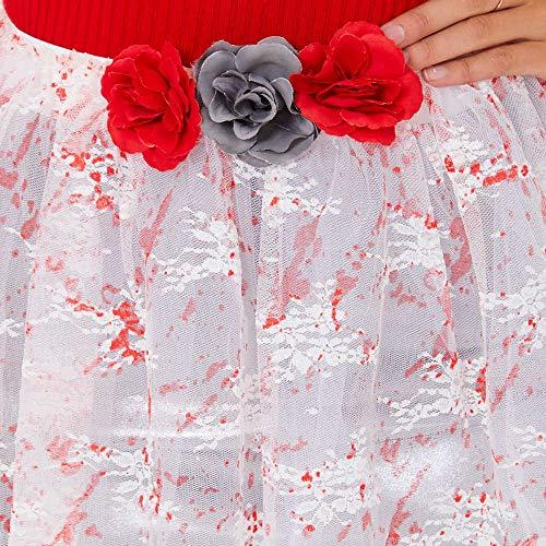 Claire's - Femmes Blood Splatter Tutu - White
