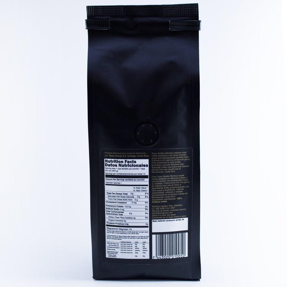 Amazon.com : Tsuru Specialty Coffee Golden Monkey from Monteverde, Costa Rica Medium Roast Ground, Sugar free, 8 oz : Grocery & Gourmet Food