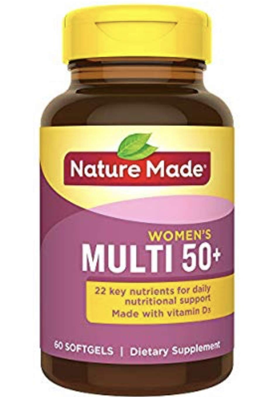 Nature Made Multi for Her 50 Dietary Softgels Original Formula – 60 Ct pack of 3
