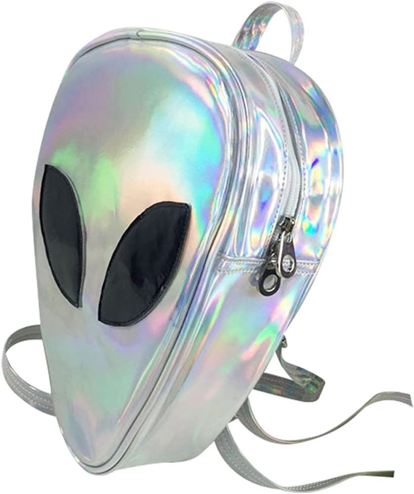 Aibearty Alien Backpack Holographic Triangle Rucksack Casual Bag