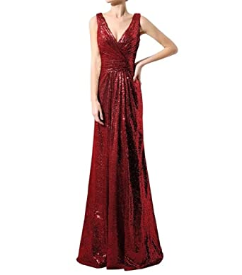 fb37cd597f LanierWedding Gold Sequins Bridesmaid Dresses Plus Size Prom Dresses 600  Burgundy Size 2