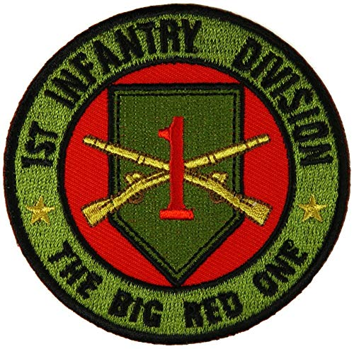 n Patch The Big Red One - by Ivamis Trading - 3x3 inch - Embroidered Iron on Patch ()
