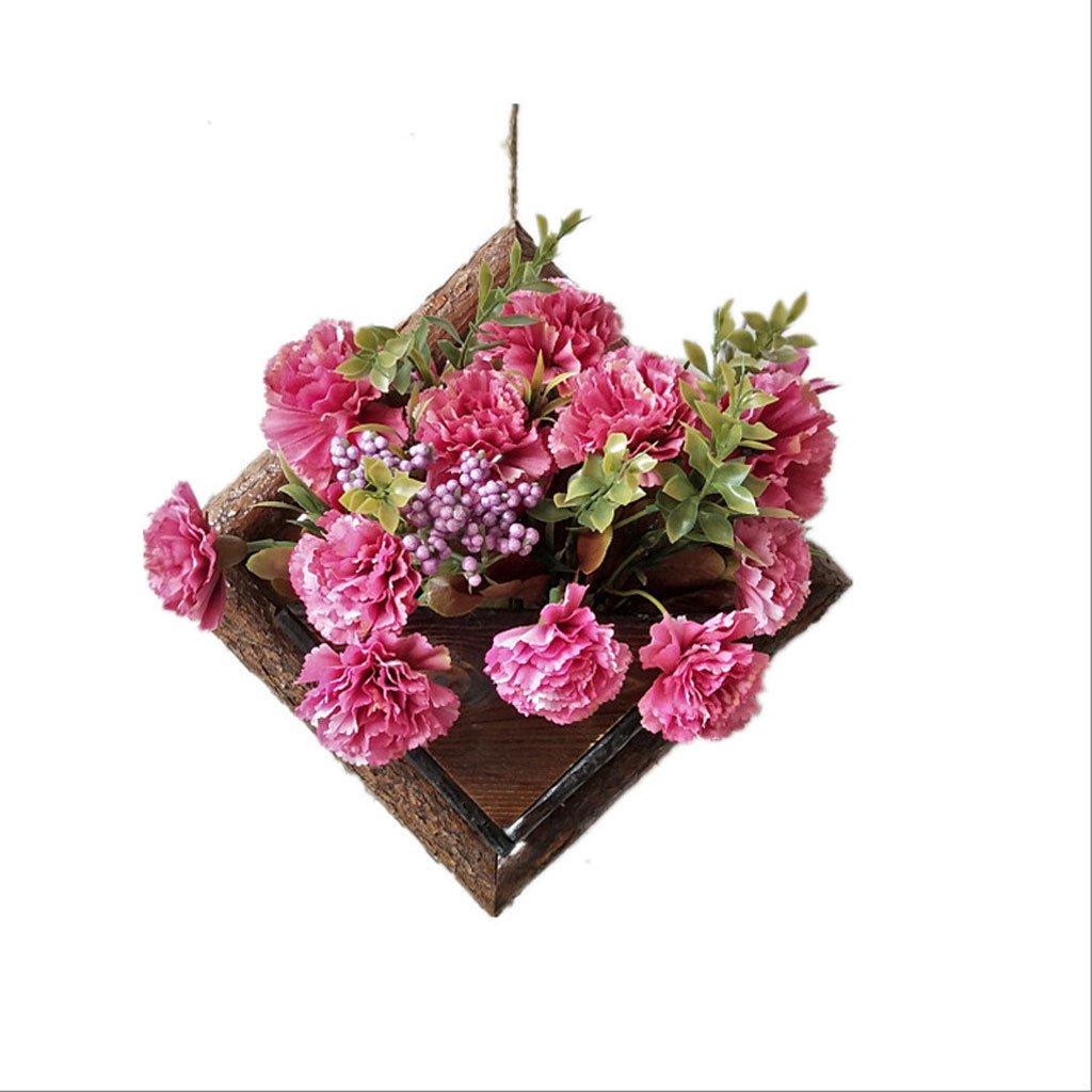 DJL Flower Stand in Legno massello Americano Tipo di Parete Soggiorno Singolo Fiore in Legno Stand STS (Dimensioni   W17CMH24CM)
