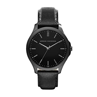 Image Unavailable. Image not available for. Color  Armani Exchange Men s  AX2148 Black Leather Watch cbed608cb