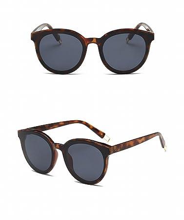 Bunte Sonnenbrille Unisex Sonnenbrille Gläser Schwarzer Rahmen Schwarz Grau Linse Wgi88uIH